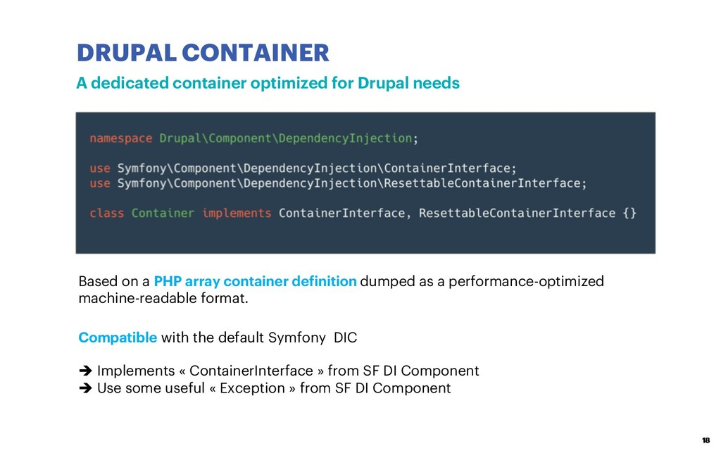 DRUPAL CONTAINER 18 A dedicated container optim...