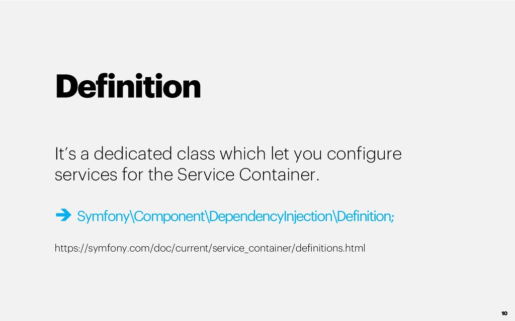 Definition It's a dedicated class which let you...