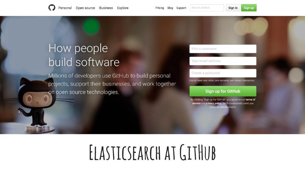 Elasticsearch at GitHub