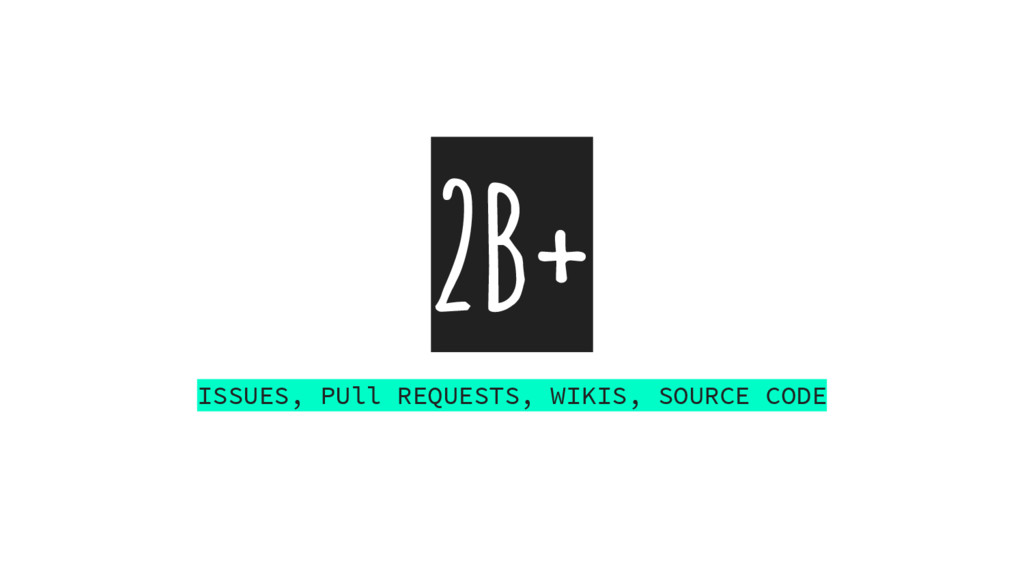 2B+ ISSUES, PUll REQUESTS, WIKIS, SOURCE CODE