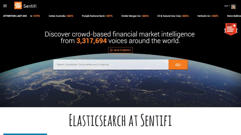 Elasticsearch at Sentifi