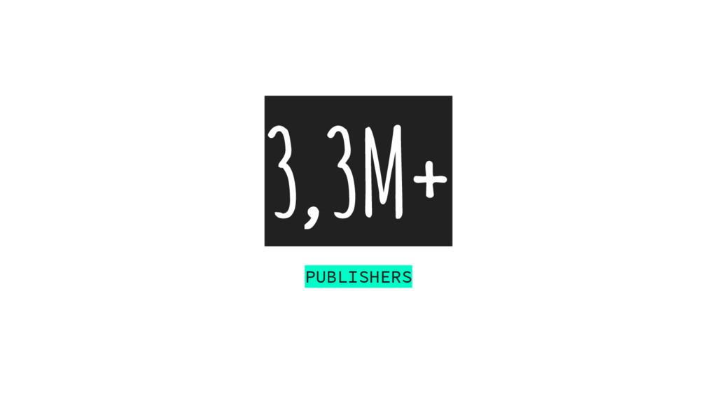 3,3M+ PUBLISHERS