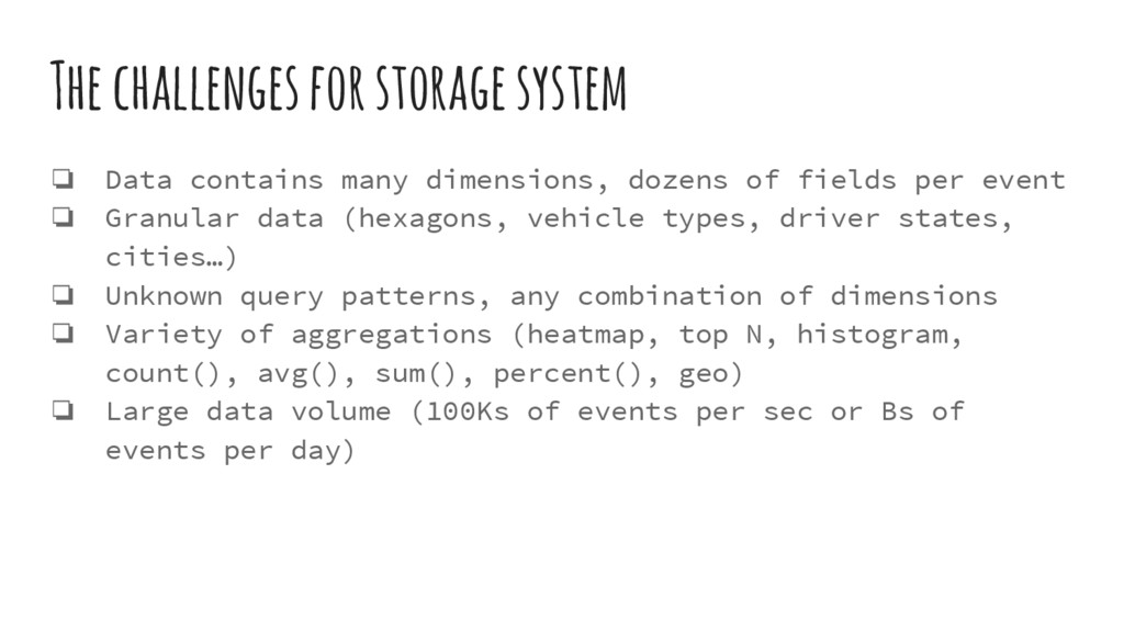 The challenges for storage system ❏ Data contai...