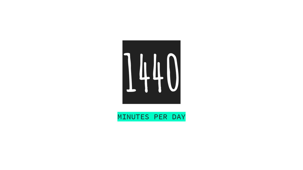 1440 MINUTES PER DAY