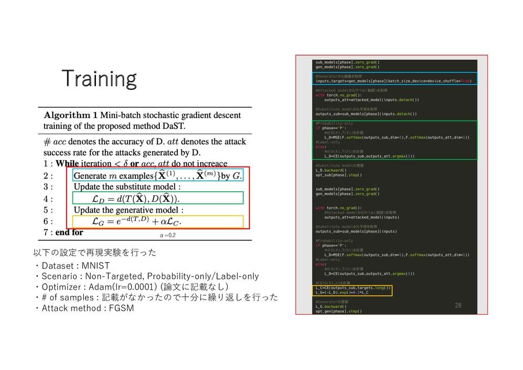 Training α=0.2 ・Dataset : MNIST ・Scenario : Non...