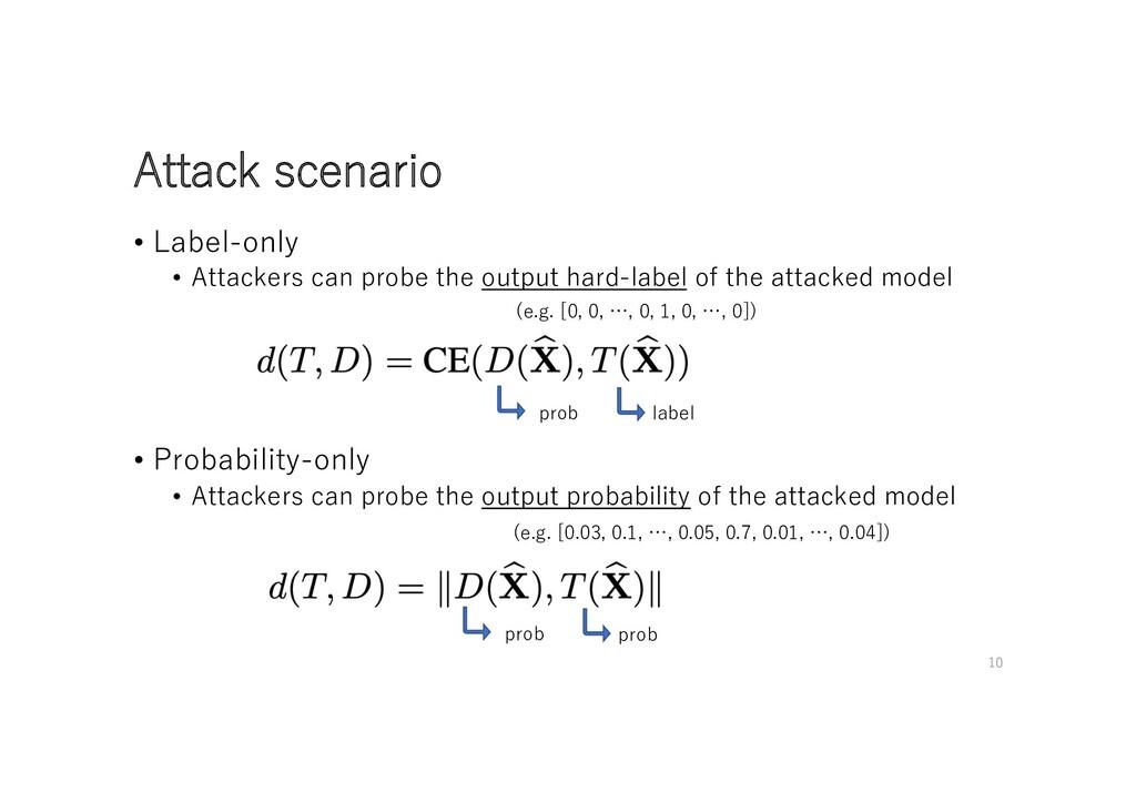 Attack scenario • Label-only • Attackers can pr...