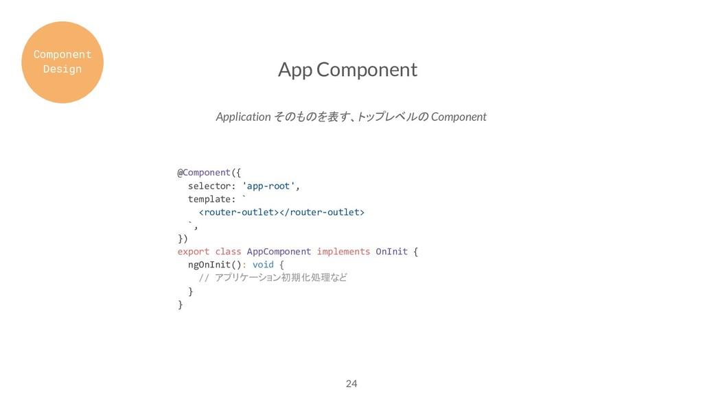 24 App Component Application そのものを表す、トップレベルの Co...
