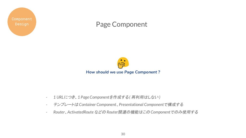 30 Page Component - 1 URLにつき、1 Page Componentを作...