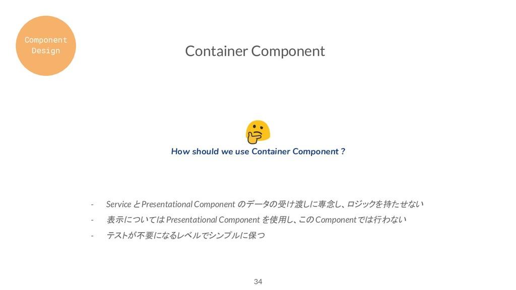 34 Container Component - Service と Presentation...