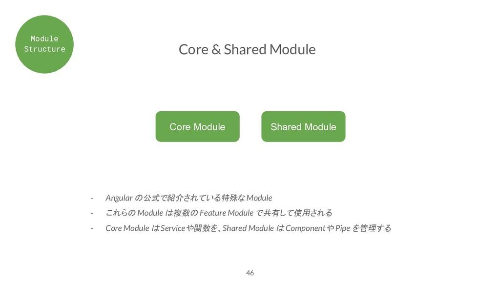 46 Core & Shared Module - Angular の公式で紹介されている特殊...