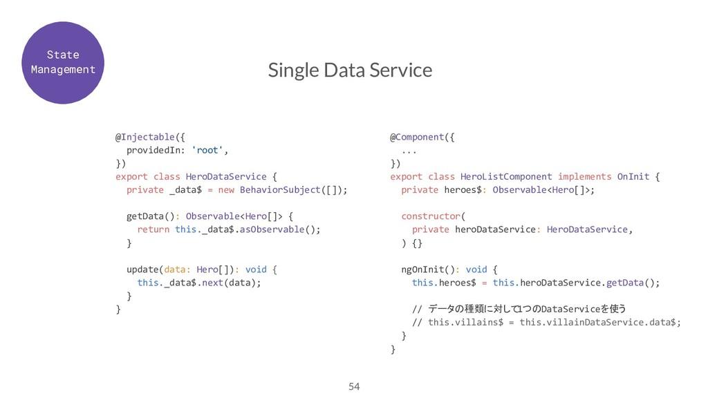 54 Single Data Service @Injectable({ providedIn...