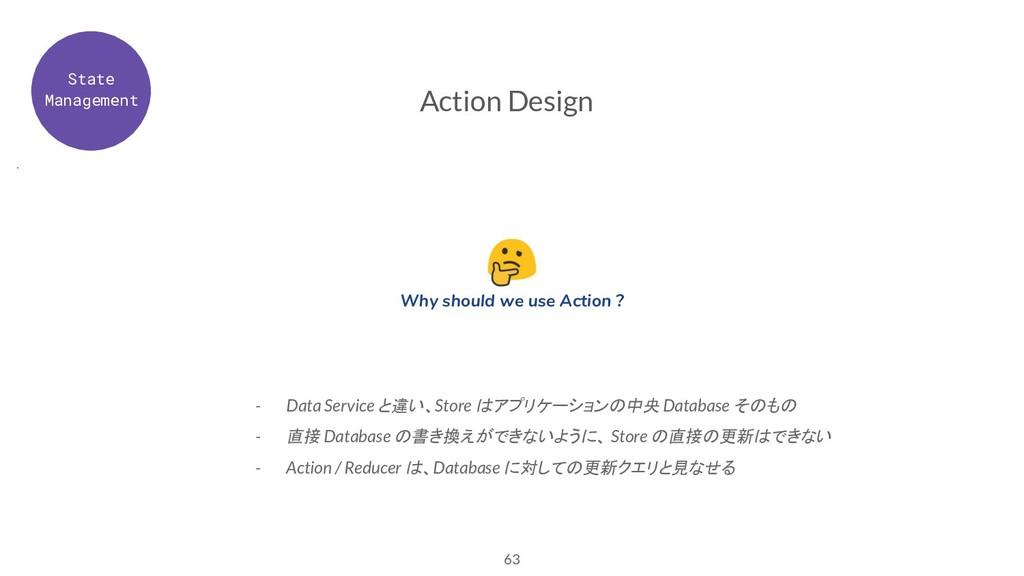 63 Action Design - Data Service と違い、Store はアプリケ...
