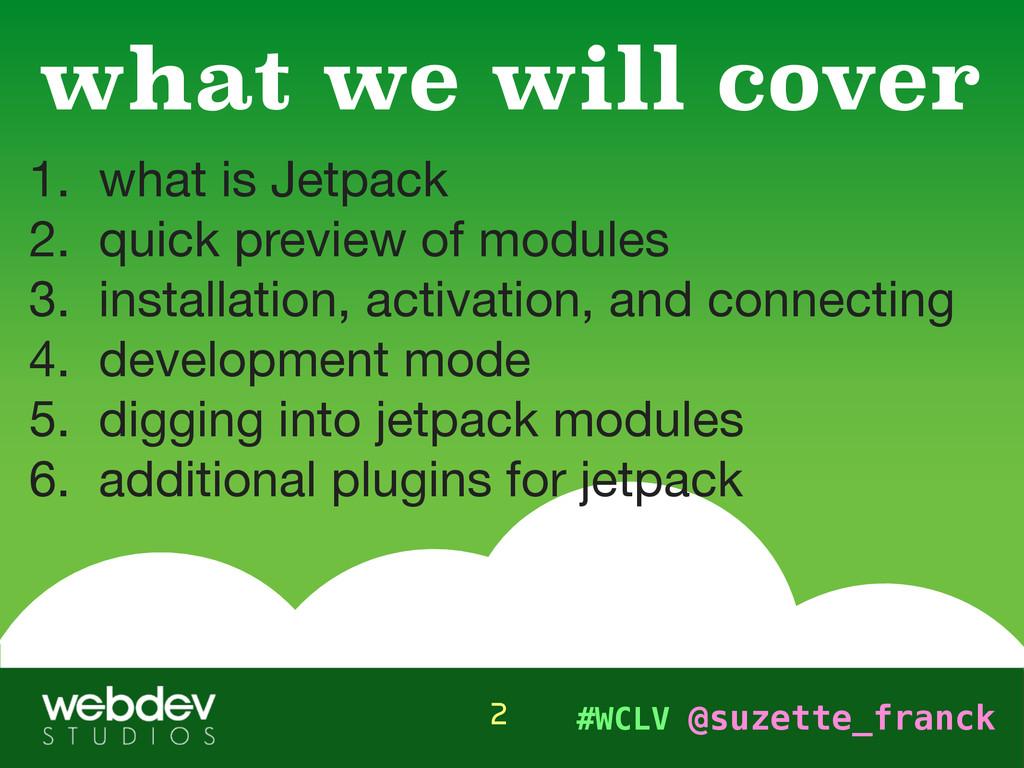 #WCLV @suzette_franck 1. what is Jetpack  2. qu...