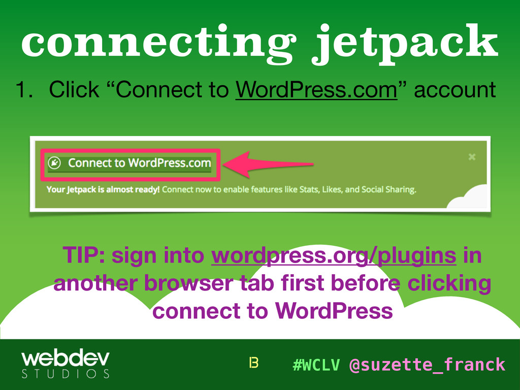 """#WCLV @suzette_franck 1. Click """"Connect to Word..."""