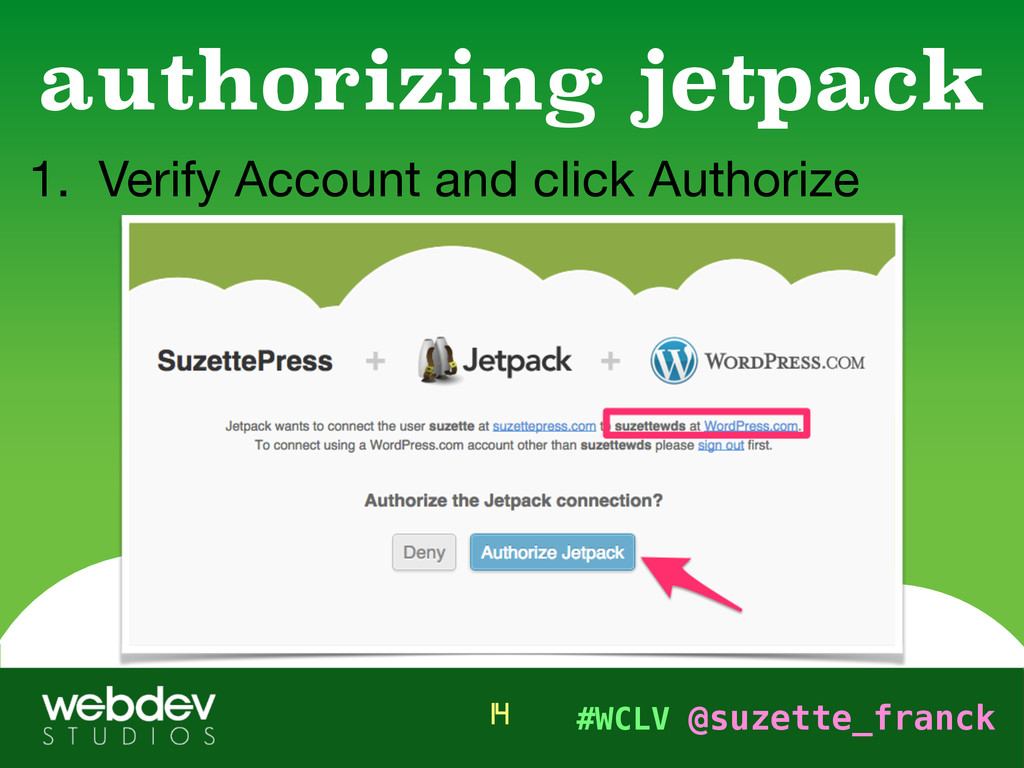 #WCLV @suzette_franck 1. Verify Account and cli...