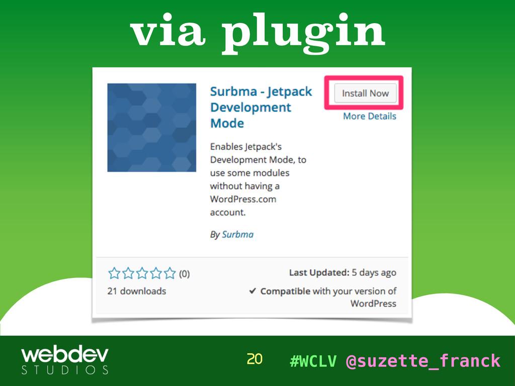 #WCLV @suzette_franck via plugin 20