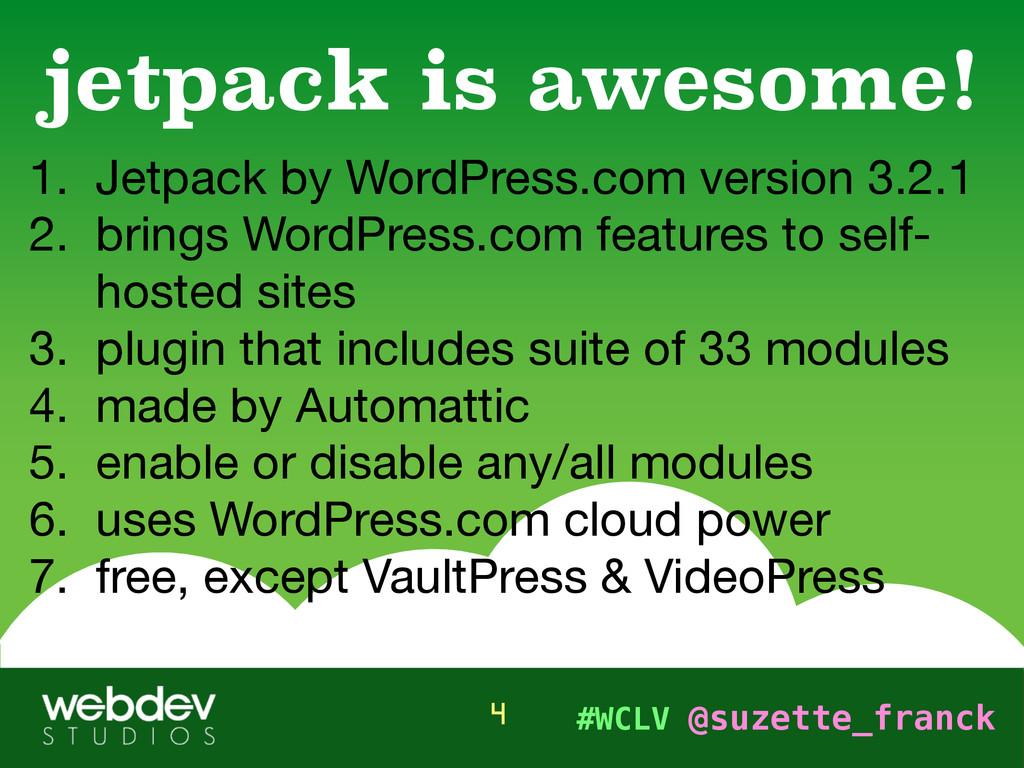 #WCLV @suzette_franck 1. Jetpack by WordPress.c...