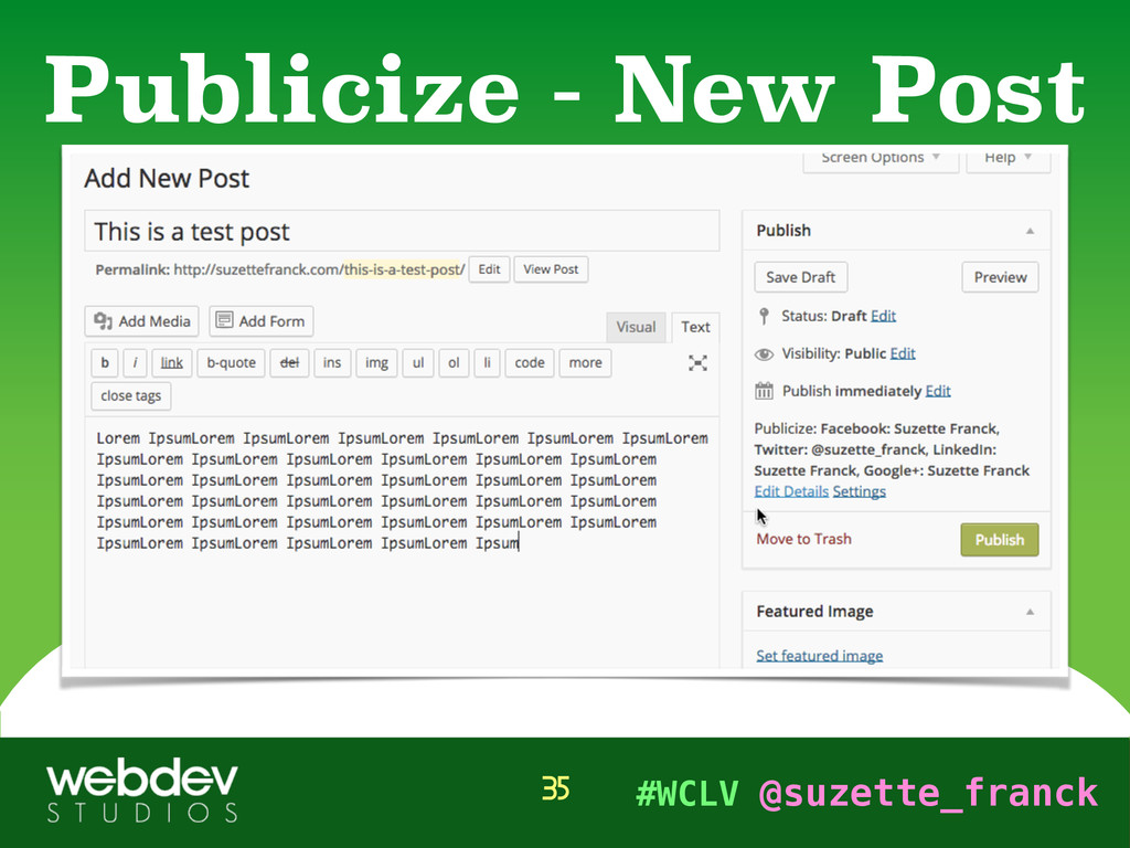 #WCLV @suzette_franck Publicize - New Post 35