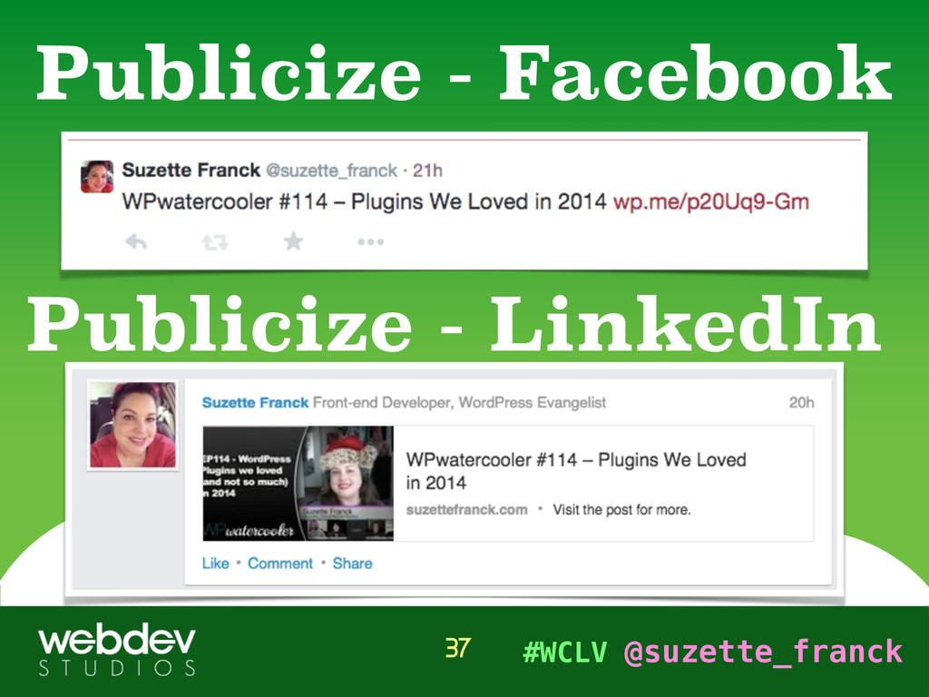 #WCLV @suzette_franck Publicize - Facebook 37 P...