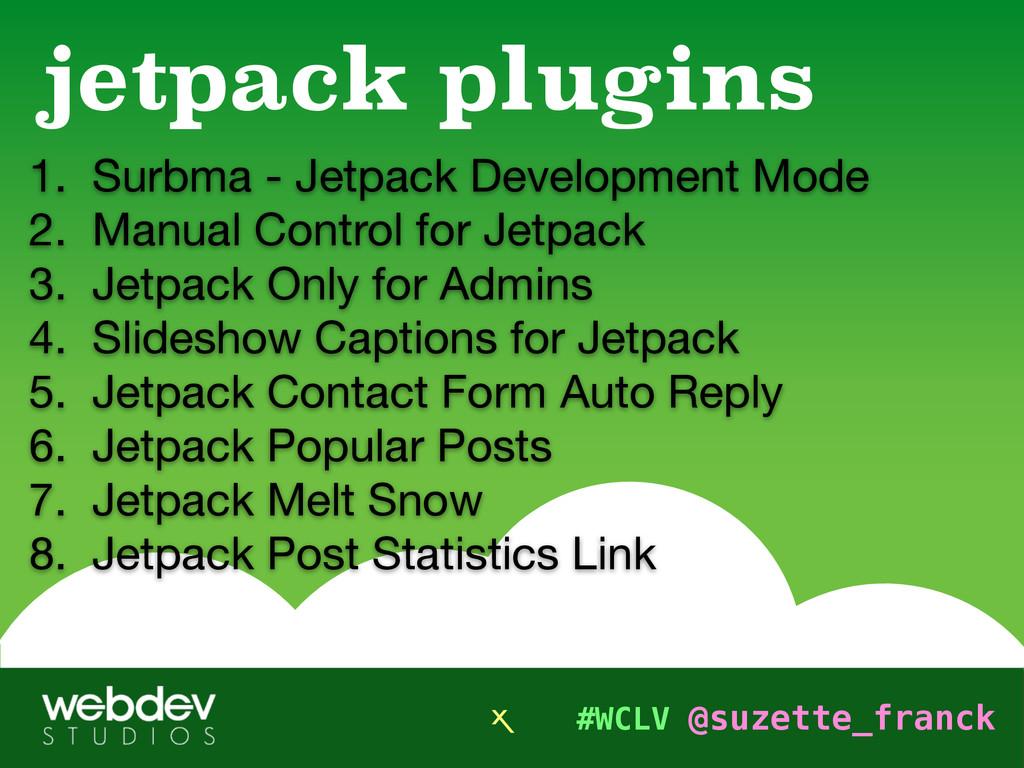 #WCLV @suzette_franck 1. Surbma - Jetpack Devel...