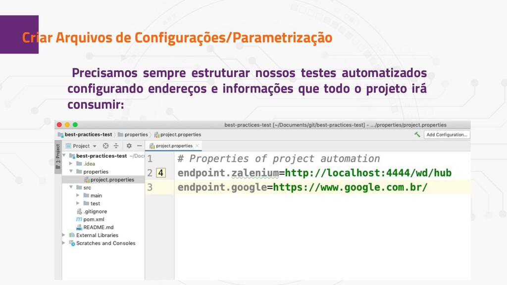 1 Criar Arquivos de Configurações/Parametrizaçã...