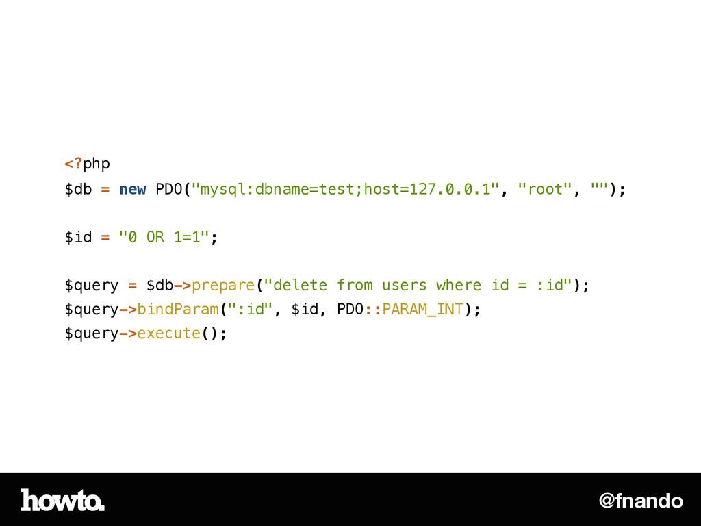"@fnando <?php $db = new PDO(""mysql:dbname=test;..."
