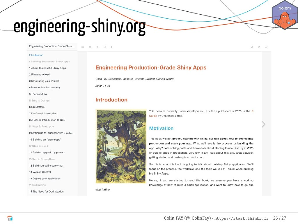 engineering-shiny.org Colin FAY (@_ColinFay) - ...