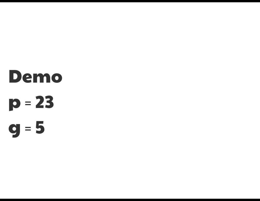 Demo  p = 23  g = 5