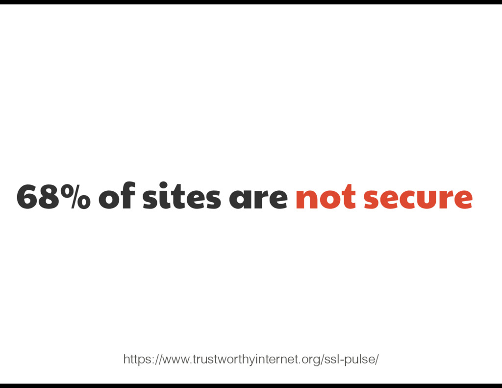 68% of sites are not secure https://www.trustwo...
