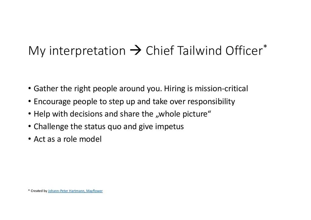 My interpretation à Chief Tailwind Officer* • G...