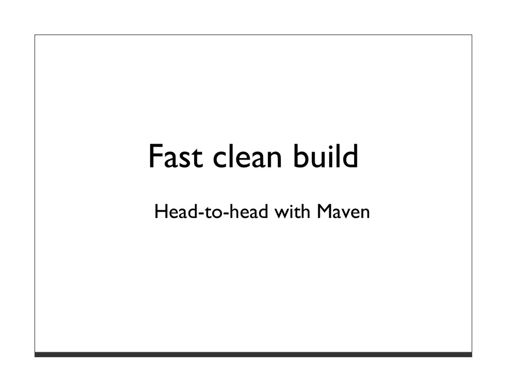 Fast clean build Head-to-head with Maven