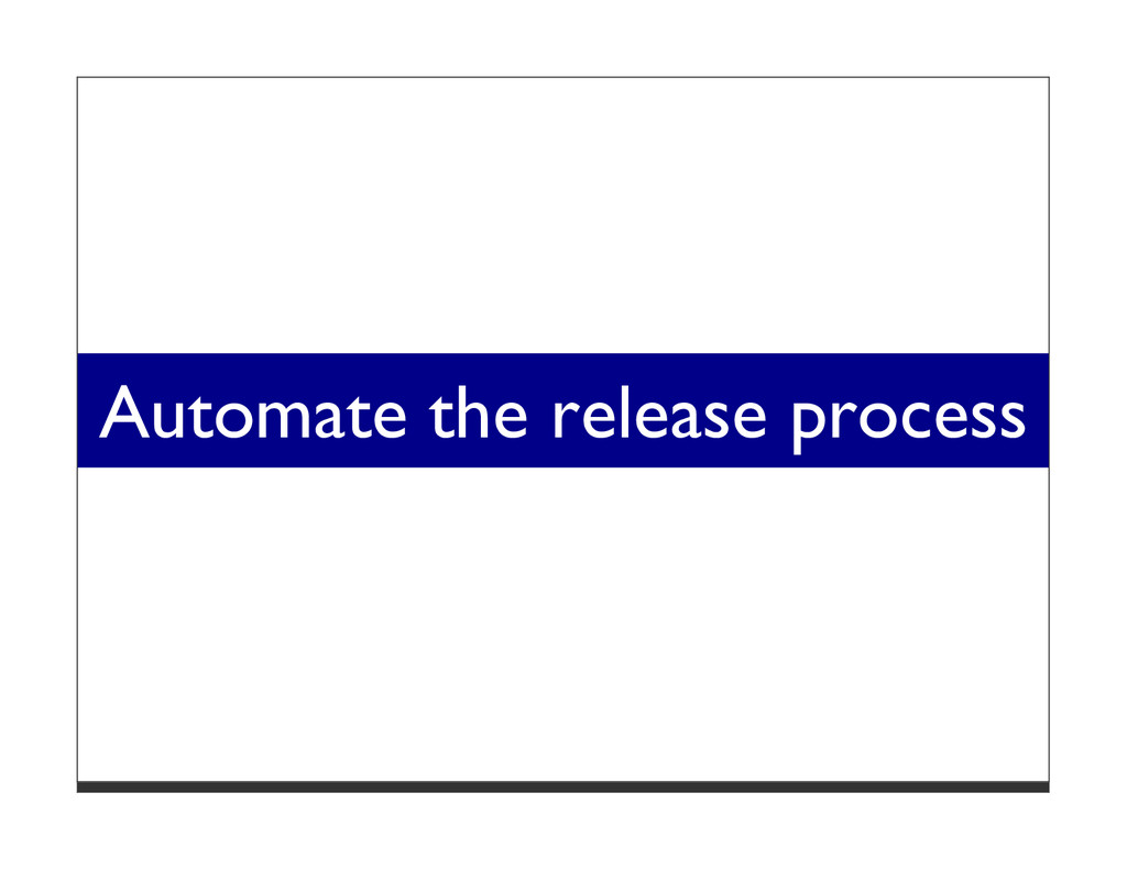 Automate the release process