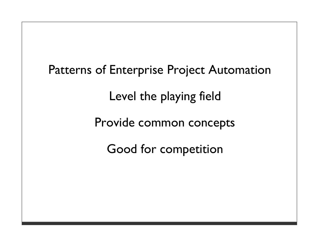 Patterns of Enterprise Project Automation Level...