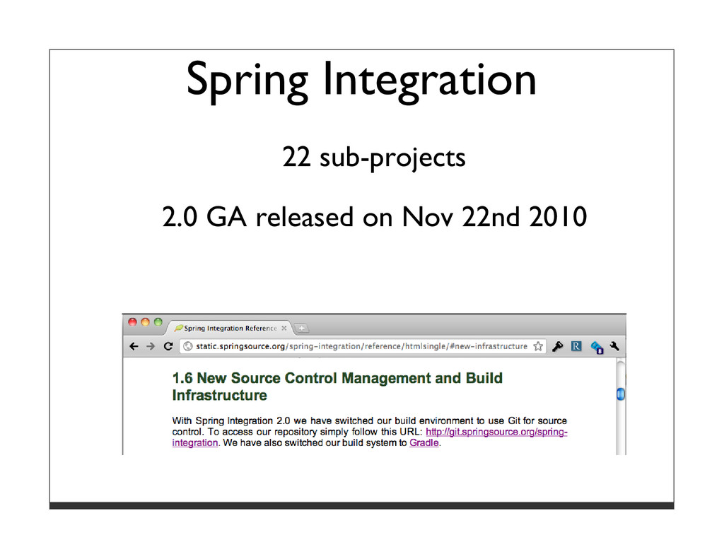 Spring Integration 22 sub-projects 2.0 GA relea...
