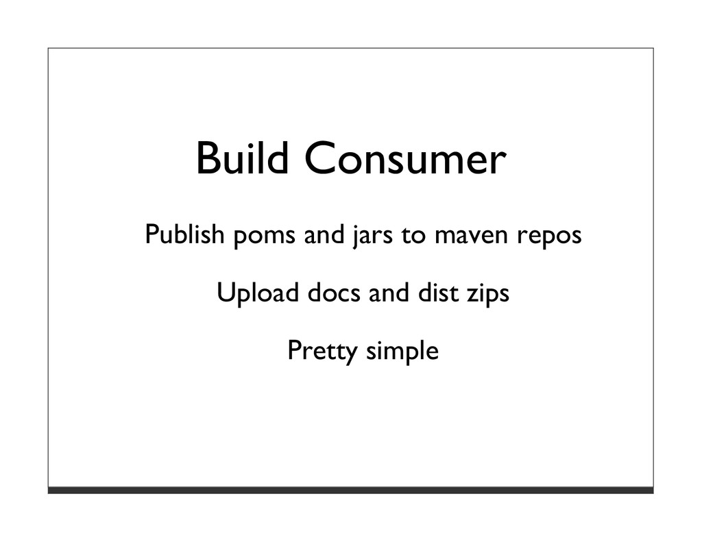 Build Consumer Publish poms and jars to maven r...