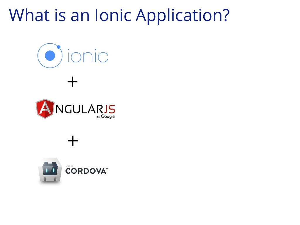 What is an Ionic Application? + +