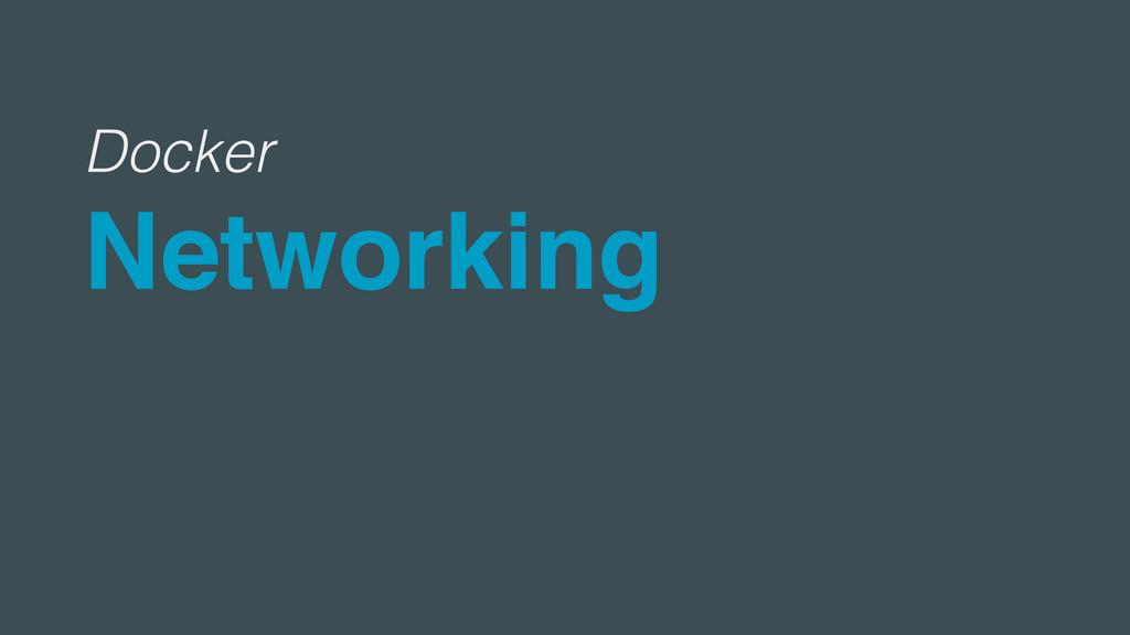 Docker Networking