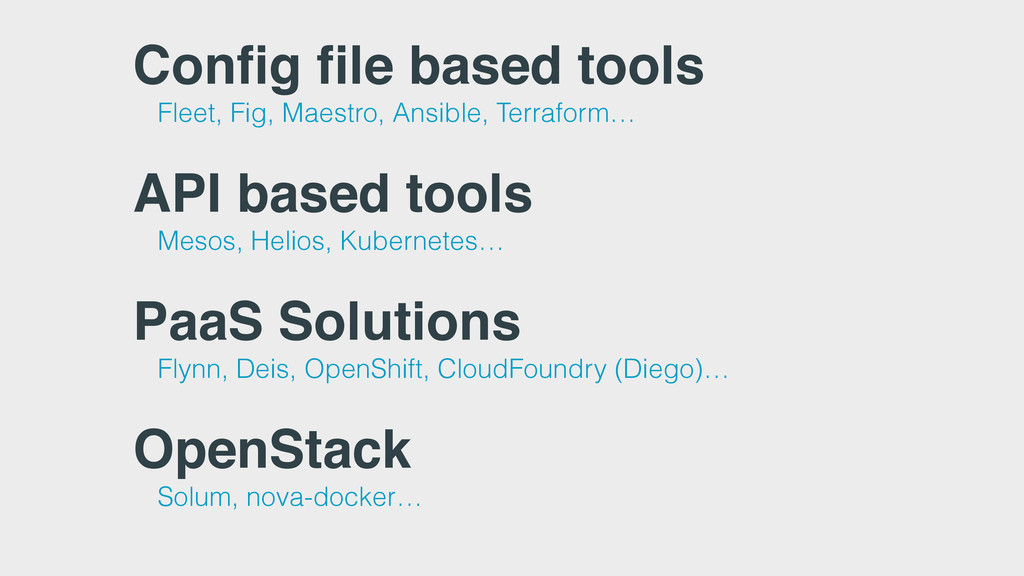 Config file based tools Fleet, Fig, Maestro, An...