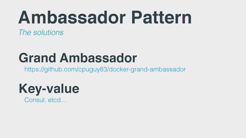 Ambassador Pattern The solutions Grand Ambassad...