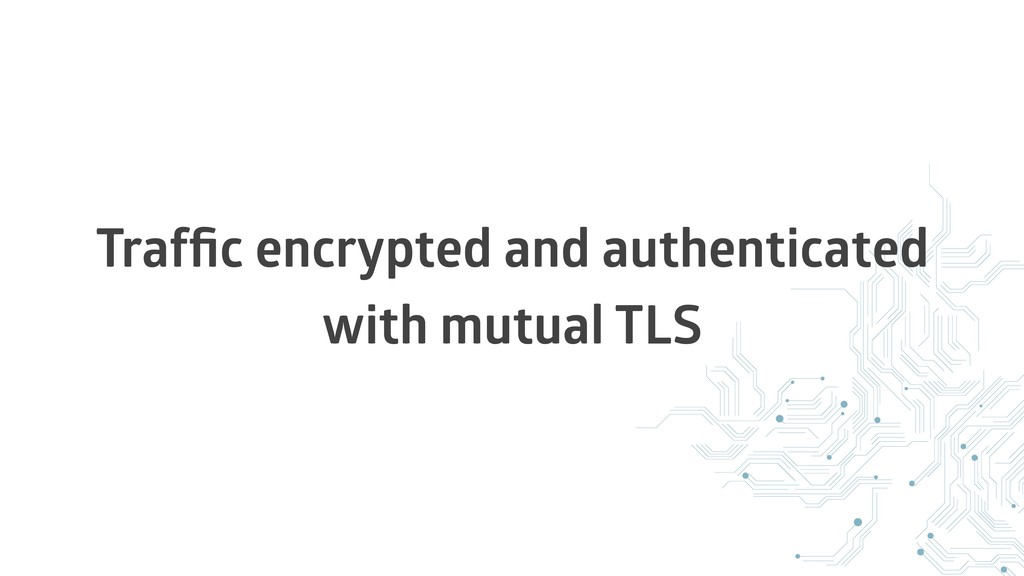 Traffic encrypted and authenticated with mutual ...