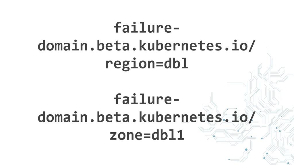 failure- domain.beta.kubernetes.io/ region=dbl ...
