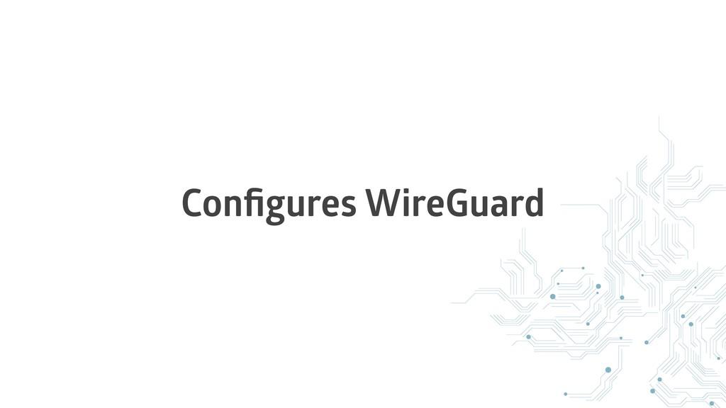 Configures WireGuard