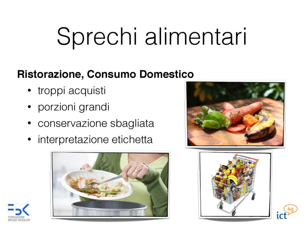 Sprechi alimentari Ristorazione, Consumo Domest...