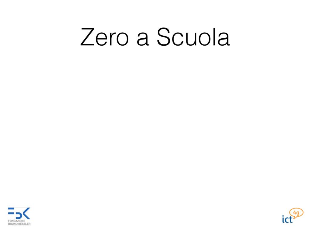 Zero a Scuola