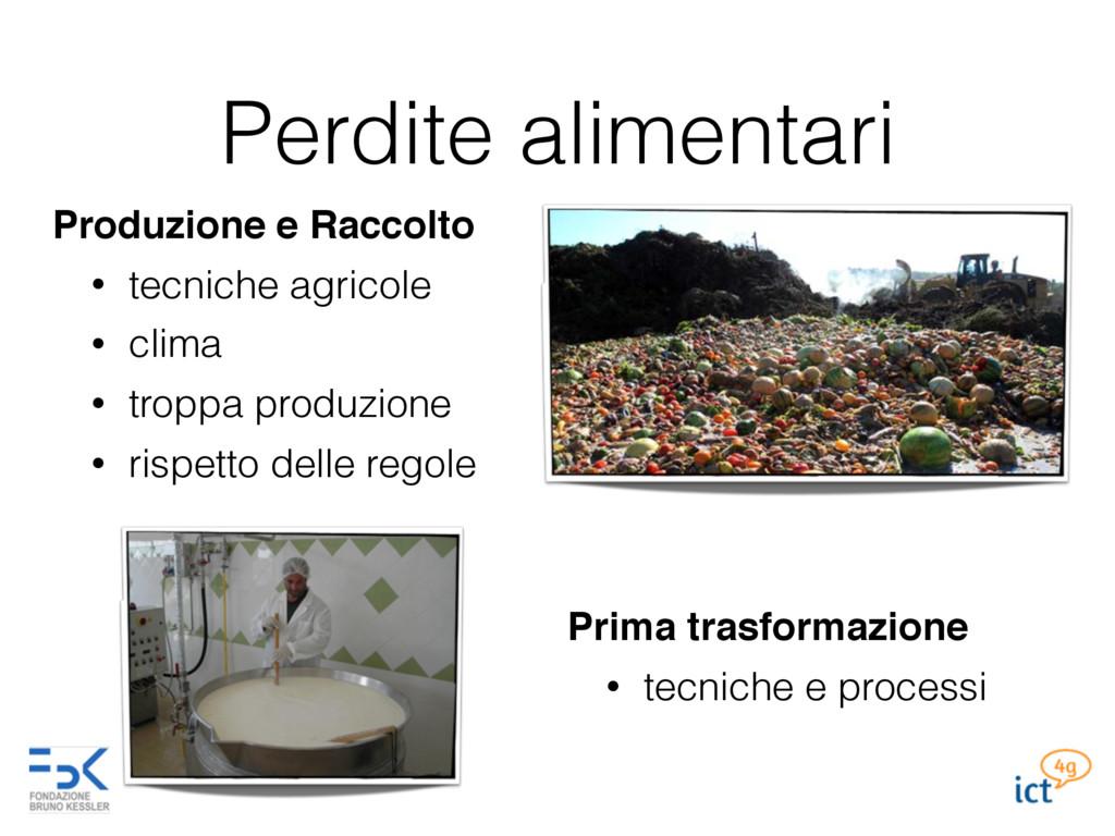 Perdite alimentari Produzione e Raccolto • tecn...