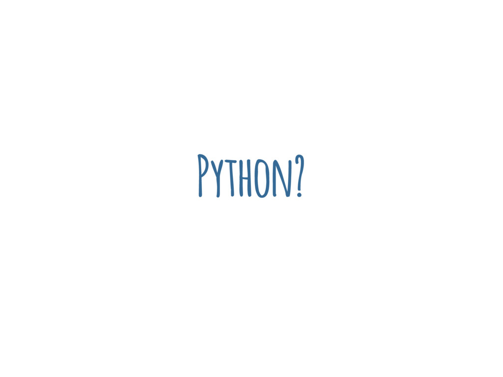 Python?