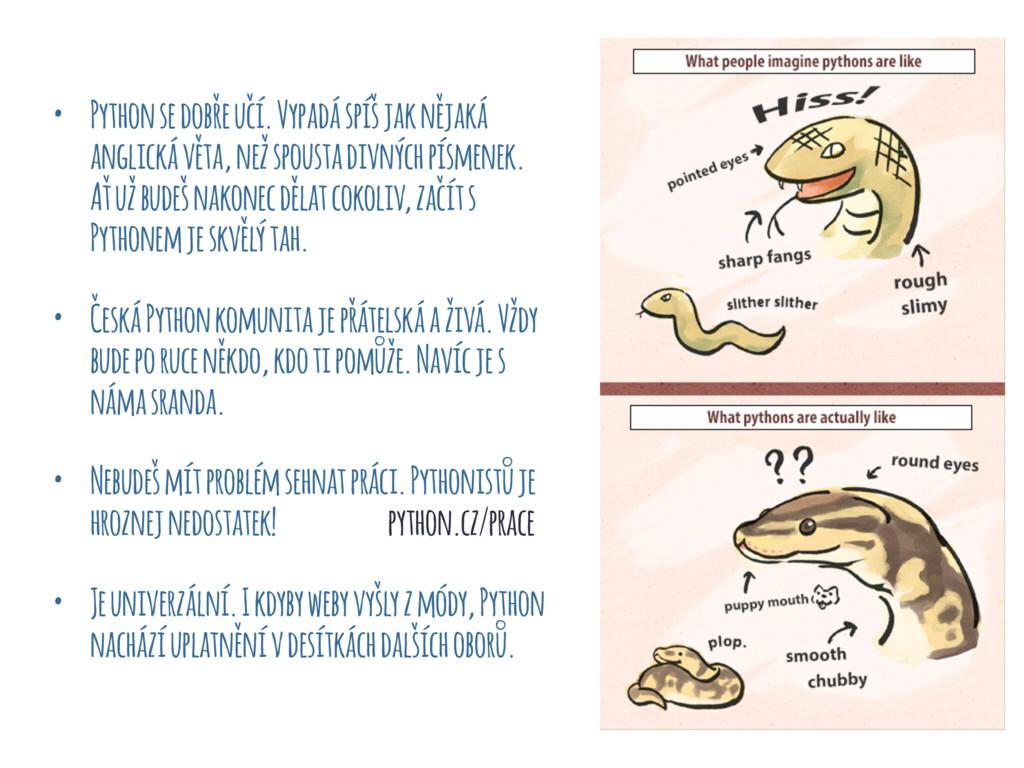 • Python se dobře učí. Vypadá spíš jak nějaká a...