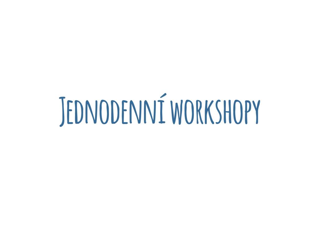 Jednodenní workshopy