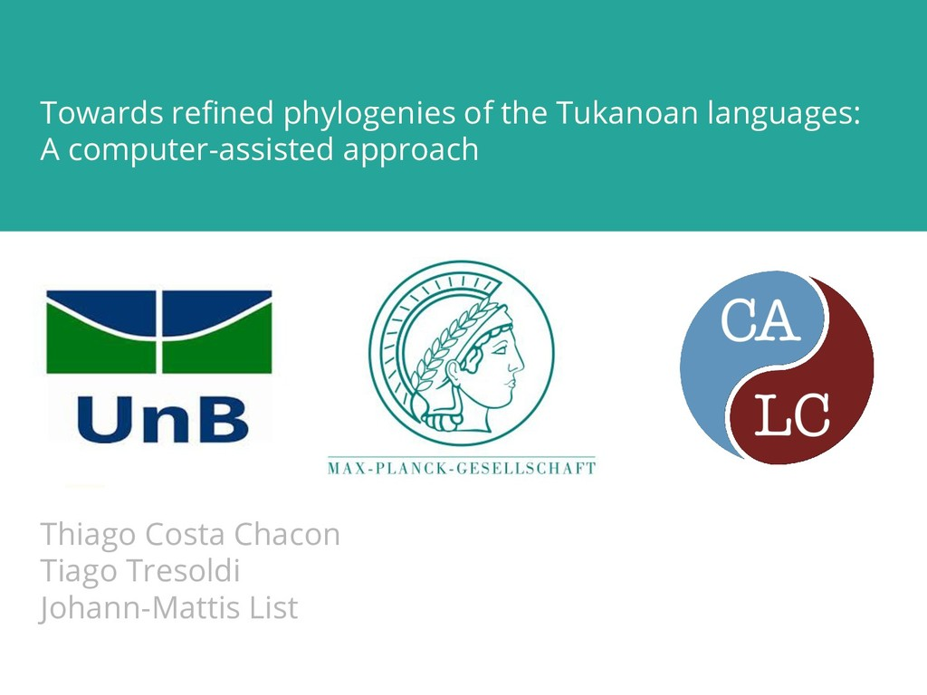Towards refined phylogenies of the Tukanoan lang...