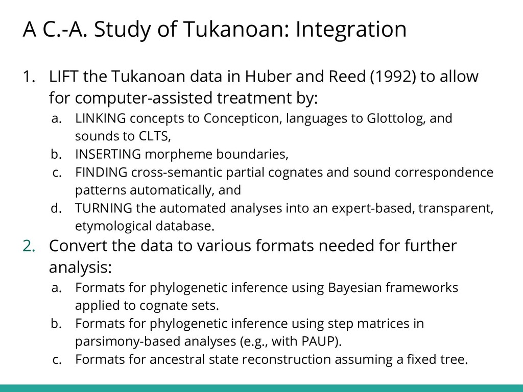 1. LIFT the Tukanoan data in Huber and Reed (19...